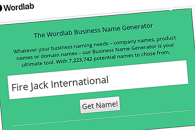 Skärmdump av Wordlab Business Name Generator