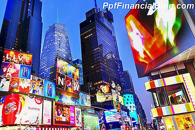 Times Square in de schemering
