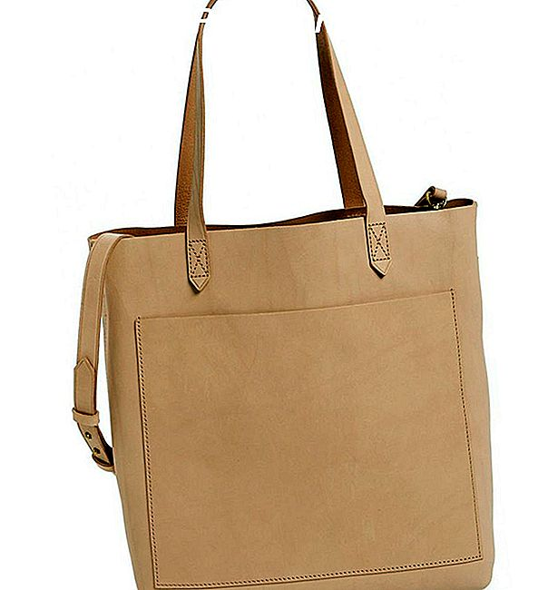 """Madewell Medium Leather Transport Tote"""